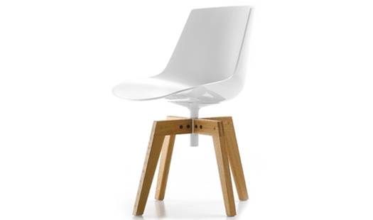 MDF Italia – Flow Chair 4-legged Oak Base by J. M. Massaud