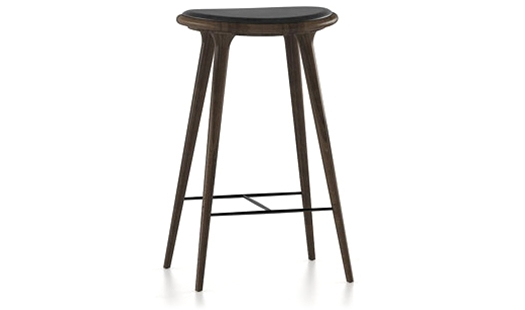 Mater High Stool Wood By Signe Bindslev Henriksen