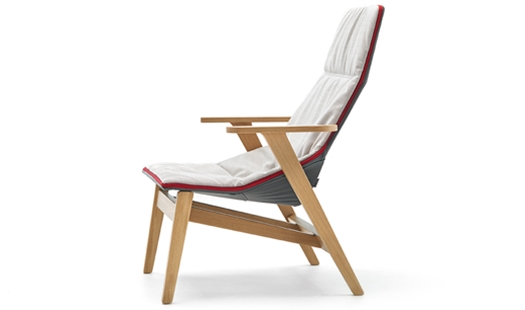 Viccarbe Ace High Lounge Chair By Jean Marie Massaud
