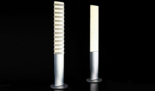 Qisdesign piano led floor lamp northern icon for Led piano floor lamp