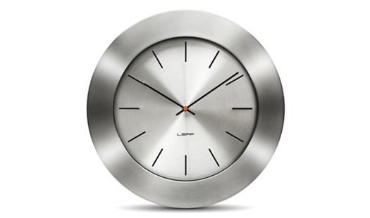 LEFF - Bold55 Clock Aluminium by Wiebe Teertstra