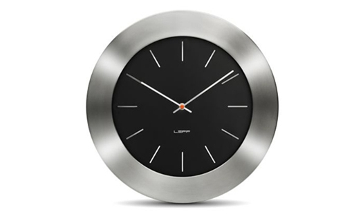 LEFF - Bold55 Clock Black by Wiebe Teertstra