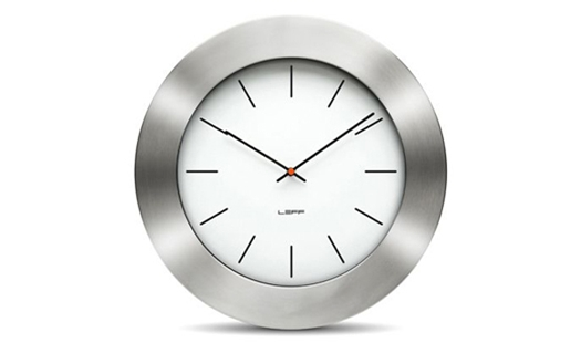 LEFF - Bold55 Clock White by Wiebe Teertstra