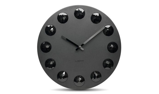 LEFF - Facet Clock Black by Wiebe Teertstra