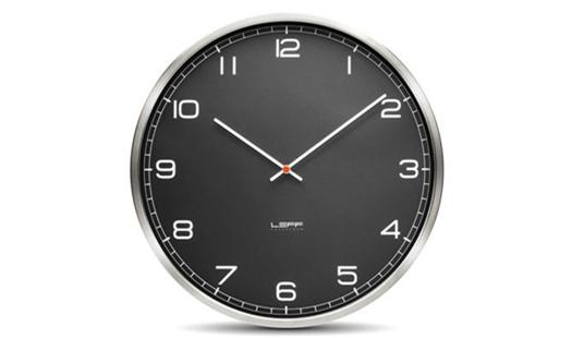 LEFF - One55 Clock Black Arabics by Wiebe Teertstra