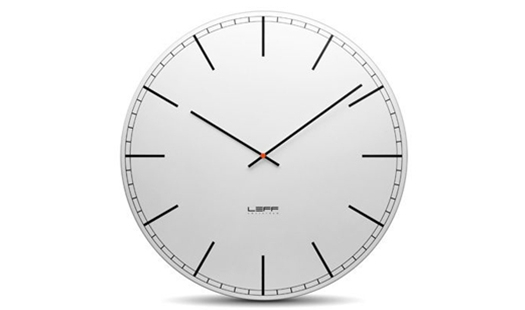 LEFF - One75 Clock White Index by Wiebe Teertstra