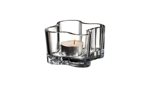 Iittala - Aalto Votive 55mm Clear by Alvar Aalto