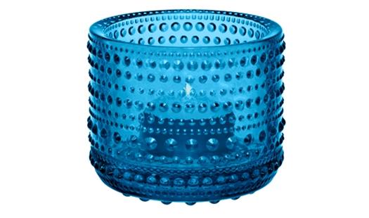 Iittala - Kastehelmi Votive Turquoise  by Oiva Toikka