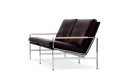 lange production fk 6720 2 two seat sofa by preben. Black Bedroom Furniture Sets. Home Design Ideas