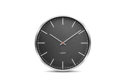 LEFF - One45 Clock Black Index by Wiebe Teertstra