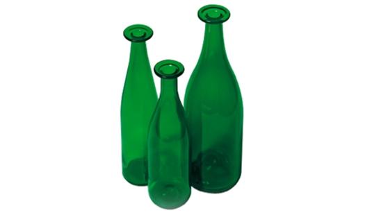 Cappellini – 3 Green Bottles PO 9225 by Jasper Morrison