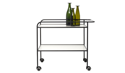 Cappellini - Steel Pipe Drink Trolley by Shiro Kuramata