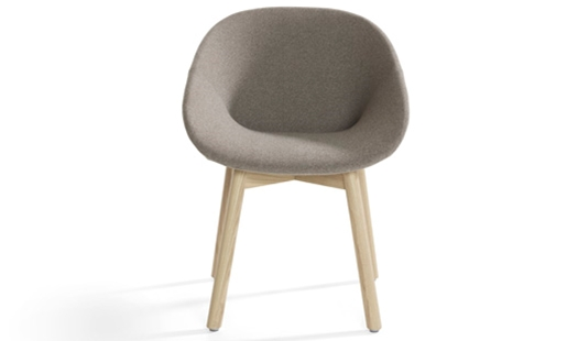 Beso 4-Legged Wood With Armrests