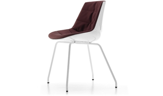 MDF Italia – Flow Chair 4-legged Base Padded by J. M. Massaud