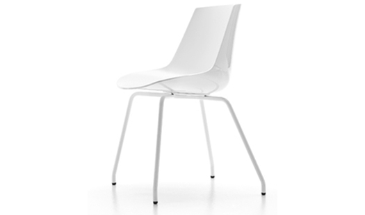 MDF Italia – Flow Chair 4-legged Base by J. M. Massaud