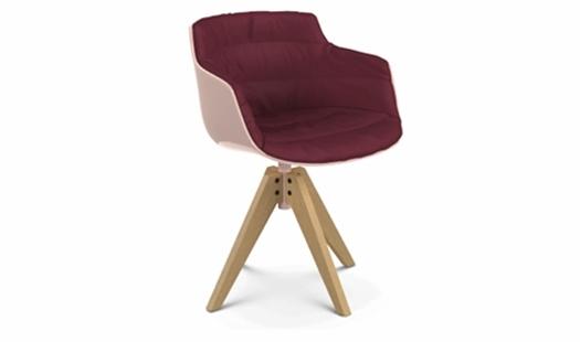 MDF Italia – Flow Slim Color - VN 4-legged Oak Base - Padded by Jean Marie Massaud