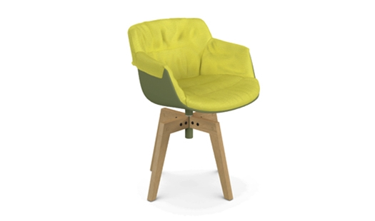 MDF Italia – Flow Slim Color - 4-legged Oak Base XL - Padded by Jean Marie Massaud