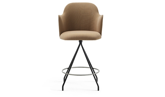 Viccarbe - Aleta Swivel Counter Stool With Armrests by Jaime Hayon