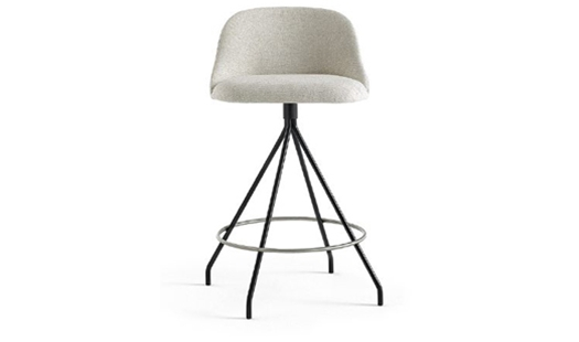 Viccarbe - Aleta Swivel Counter Stool Low-back by Jaime Hayon