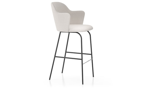 Viccarbe - Aleta Bar Stool High-back Armrests by Jaime Hayon