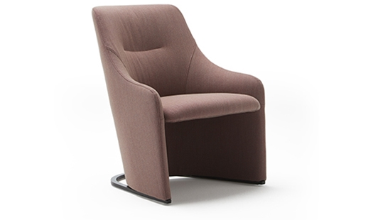 Viccarbe - Nagi Low Fixed Armchair by Tomoya Tabuchi