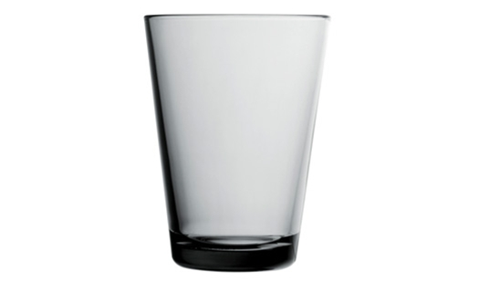 Iittala - Kartio Glass 40cl Grey by Kaj Franck