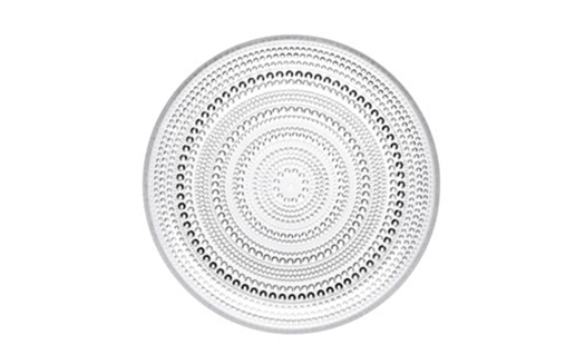 Iittala – Kastehelmi Plate 248mm Dew Drop Clear by Oiva Toikka