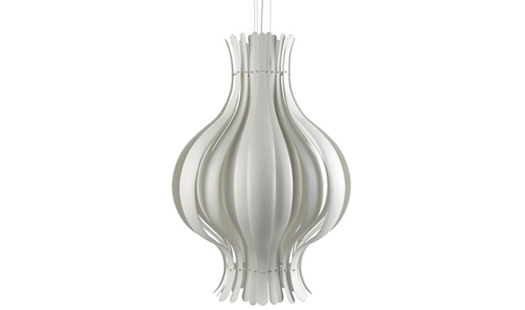 Verpan - Onion Pendant Large White by Verner Panton