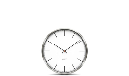 LEFF amsterdam - One35 Clock White Index by Wiebe Teertstra