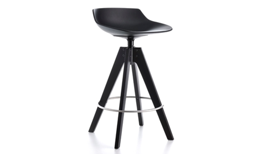 MDF Italia – Flow Stool VN 4-legged Oak Base Medium-H 65 by Jean-Marie Massaud