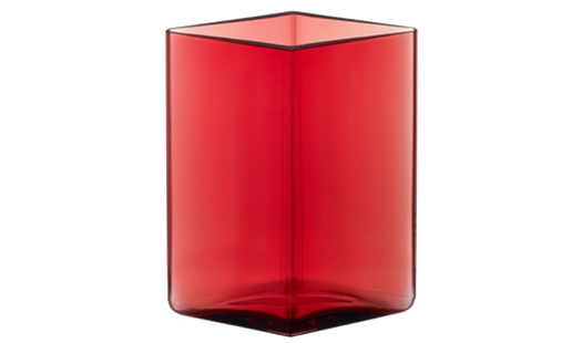 Ruutu Vase 115 x 140mm Cranberry