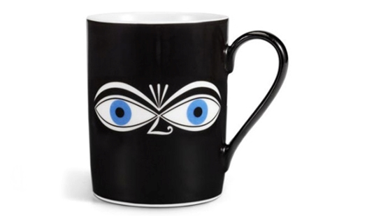 Vitra – Coffee Mug Eyes blue by Alexander Girard