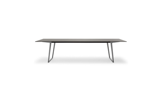 MDF Italia – Axy Comfort Table - Extension - Metalic by Claudio Bellini