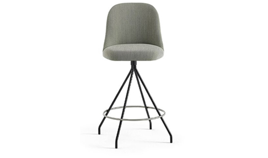Viccarbe - Aleta Swivel Counter Stool High-back by Jaime Hayon