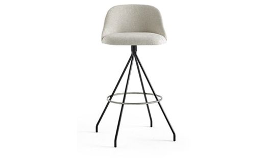 Viccarbe - Aleta Swivel Bar Stool Low-back by Jaime Hayon