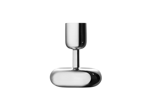 Iittala - Nappula Candleholder 107mm Stainless Steel by Matti Klenell