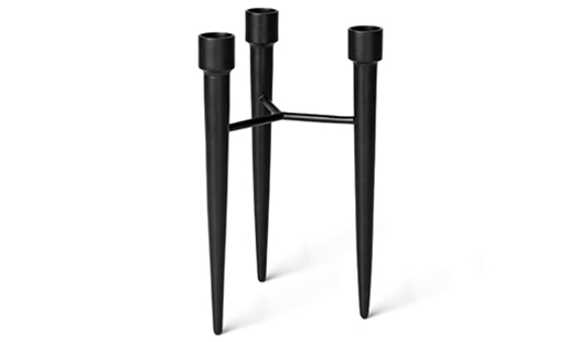 Mater - Spike Candle Holder Black Iron by Amanda Walther