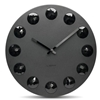 LEFF - Facet Clock Black by Wiebe Teertstra