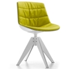 MDF Italia – Flow Chair VN 4-legged Steel Base Padded by Jean-Marie Massaud