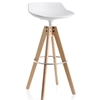 MDF Italia – Flow Stool VN 4-legged Oak Base High-H 78 by Jean-Marie Massaud