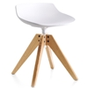 MDF Italia – Flow Stool VN 4-legged Oak Base Low-H 44 by Jean-Marie Massaud