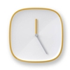 Plate Clock Yellow