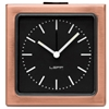 LEFF - Block Alarm Clock Copper Black Index by Erwin Termaat