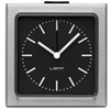 LEFF - Block Alarm Clock Steel Black Index by Erwin Termaat