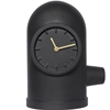 Base Table Clock Matt Black-Brass