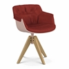 MDF Italia – Flow Slim Color - VN 4-legged Oak Base XL - Padded by Jean Marie Massaud