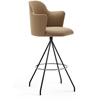 Viccarbe - Aleta Swivel Bar Stool With Armrests by Jaime Hayon