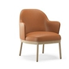 Viccarbe - Aleta Lounge Chair Wooden Base With Armrests by Jaime Hayon